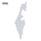 Wektor kropkował mapę Izrael odizolowywał na białym tle Obrazy Royalty Free
