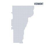 Wektor kropkował mapa stan Vermont odizolowywał na białym tle Zdjęcie Stock