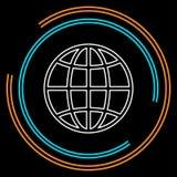 Wektor kuli ziemskiej ziemska ilustracja Planeta symbol royalty ilustracja