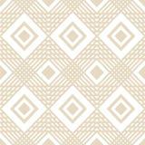 Wektor kwadratowych geometrycznych linii deseniowy tło z kolor śmietanką Fotografia Stock