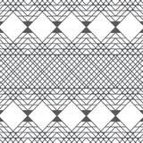 Wektor kwadratowych geometrycznych linii deseniowy tło z kolorem popielatym Obrazy Royalty Free