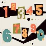 Wektor liczba Fotografia Stock