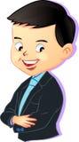 Wektor Młoda chłopiec w biznesu stylu, kreskówki ilustracja Ilustracji