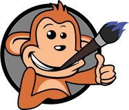 Wektor - małpia kreskówka ilustracja wektor