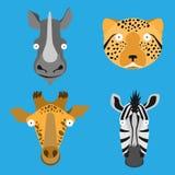 Wektor malować zwierzę głowy Zdjęcia Royalty Free