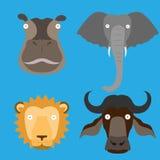 Wektor malować zwierzę głowy Obrazy Royalty Free