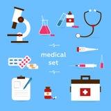 Wektor - Medyczne ikony ilustracja wektor