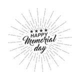Wektor odizolowywał monochromatycznego teksta Szczęśliwego dzień pamięci dla kartka z pozdrowieniami, ulotka, plakat z teksta lit Zdjęcie Royalty Free