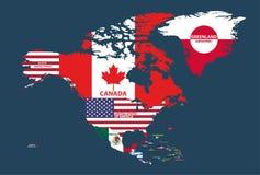 Wektor odizolowywający na białym żakiecie ręki centrala i południe - amerykańscy kraje ilustracji