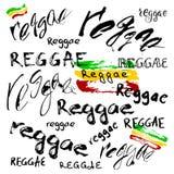 Wektor odizolowywający piszący list plakat w reggae projektować ilustracja wektor
