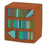 Wektor półka na książki ilustracji