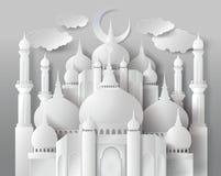 Wektor papierowy meczet ilustracji
