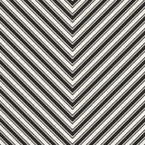 Wektor paskuje bezszwowego wzór Szewron tekstura czerń Obrazy Royalty Free