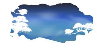 Wektor piękna drzewo chmura i nieba tło Zdjęcia Stock