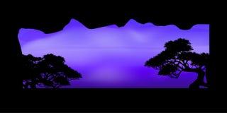 Wektor piękna drzewo chmura i nieba tło Zdjęcie Stock