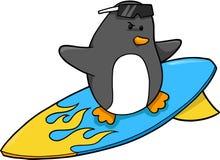 wektor pingwina surfera royalty ilustracja