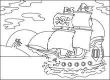 Wektor - pirata statek ilustracja wektor