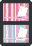 wektor pocztówkowy rocznik Obraz Royalty Free