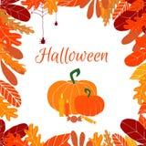 Wektor rama dedykująca jesień wakacje Halloween zdjęcia royalty free