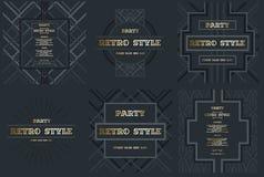 Wektor rama dla tekst sztuki współczesnej grafika dla modnisiów dynamiczni 3 ilustracja wektor