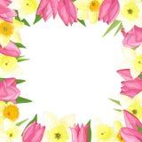 Wektor rama wiosna kwiaty zdjęcie royalty free
