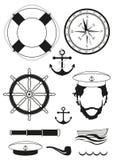 wektor Set denne i nautyczne dekoracje Obraz Royalty Free