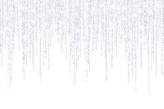Wektor spada w linii srebra błyskotliwości confetti kropkach ilustracji
