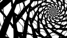 Wektor spirala na białym tle Hipnoza skutek, abstrakta wzór fotografia stock