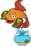 Wektor - Szczęśliwy goldfish ilustracja wektor