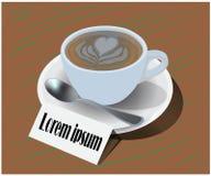 Wektor szkło filiżanka w sklepie z kawą ilustracji