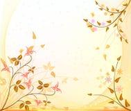 wektor tła jesienią Obrazy Royalty Free
