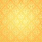 wektor tapetowy sztuka zatwierdzenia żółty royalty ilustracja