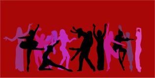 wektor tło tancerkę. Zdjęcie Stock