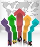 Wektor trasa chodzi sukces światowy biznesmen Fotografia Stock