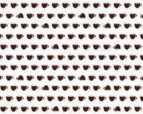 Wektor tupocze z śmiesznymi brown filiżankami Obraz Royalty Free