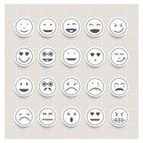 Wektor twarzy ustalona emocja ilustracja wektor