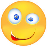 Wektor - Uśmiechnięty emoticon wyraża zdumienie ilustracji
