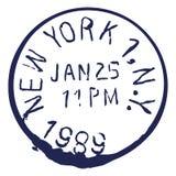 Wektor USA Pocztowy znaczek New York Post ilustracji