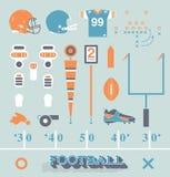 Wektor Ustawiający: Futbolowe wyposażenie ikony, symbole i Fotografia Royalty Free