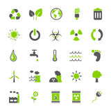 Wektor Ustawiający: Eco ikony ilustracji