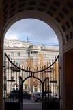wektor wizerunku miasta architektury archeologiczny Wysoka brama Obrazy Royalty Free