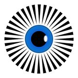 Wektor Wszystkie widzii oko ostrosłupa symbolu mandala Czarny i biały ilustracja Dekoracja, azjata ilustracja wektor