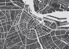 Wektor wyszczególniająca mapa Amsterdam ilustracja wektor