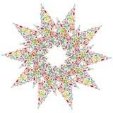 Wektor wzorzystości projekta element Oryginalny mandala z 5 kątami Zdjęcia Royalty Free