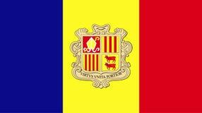 Wektor zadziwiać Andorra flagę Obywatel flagi światowy kraj ilustracja wektor