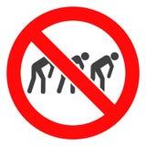 Wektor Zakazująca niewolnictwo ikona royalty ilustracja
