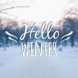 Wektor zamazujący zima krajobrazu tło z typografią Fotografia Royalty Free