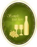 Wino etykietka ilustracja wektor