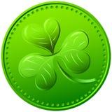 Wektor zielona koniczyna. symbol St. Patrick dzień Obraz Royalty Free