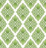 Wektor. Zielony bezszwowy wzór ilustracji